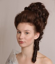 Victorian Era hairstyle Created by an Iver Academy Trained Artist