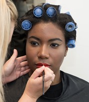 Iver Academy Artist Applying Make-up on a Model
