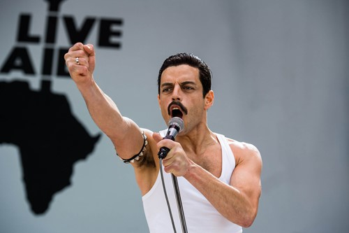 Rami Malek as Freddie Mercury from the film Bohemian Rhapsody